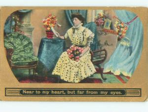 Divided-Back PRETTY WOMAN Risque Interest Postcard AA7772