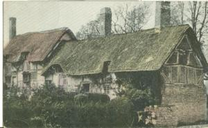 UK, Anne Hathaway's Cottage, Stratford, early 1900s unuse...