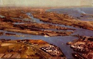 California Los Angeles-Long Beach Harbor Aerial View 1948