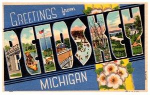 Michigan Petoskey LARGE LETTER