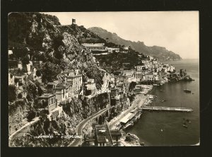 Postmarked 1950? Amalfi Italy Amalfi Panorama Real Photo Postcard