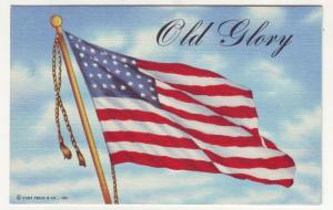 P82 JLs linen postcard usa flag old glory curt teich card