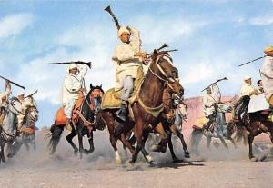 Morocco Le Maroc Pittoresque La Fantasia Chevaux Horses