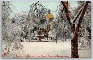Boston MA~Icy Brewer Fountain~Stuart Howland CO~JW McNair Salesman Call~1907