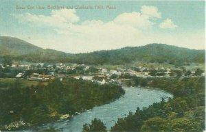 Buckland & Shelburne Falls, Mass Birds Eye View 1911 Postcard