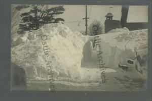 Port Leyden NEW YORK RPPC c1910 BLIZZARD Snow Drift TUNNEL nr Utica Boonville
