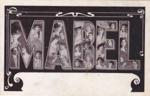 Large Letter Mabel - Greetings - pm 1908 - DB