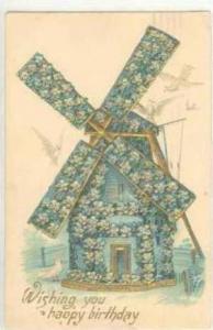 Windmill Birthday Greetings, PU-1909