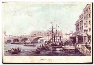 Old Postcard London Bridge Boat