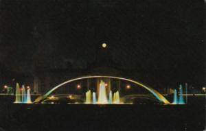 Canada Illuminated Fountain In Confederation Park In Front Of City Hall Kings...