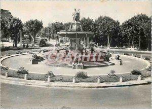 Modern Postcard Aix en Provence La Grande Fontaine on the Rotunda (XIX)