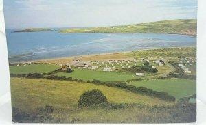 Vintage Postcard Caravan Site Poppitt Sands Gwbert and Cardigan Island Dyfed