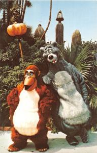 Baloo King Louie Adventureland Jungle Book Walt Disney World Florida Postcard