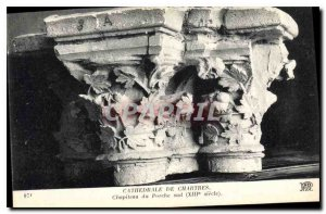 Postcard Old Cathedral of Chartres Capital of the South Porch century XIII
