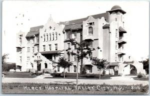 Valley City, North Dakota RPPC Postcard MERCY HOSPITAL Pearson Photo 1937 Cancel