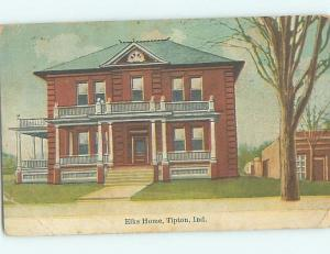 Divided-Back ELKS HOME Tipton Indiana IN G2471