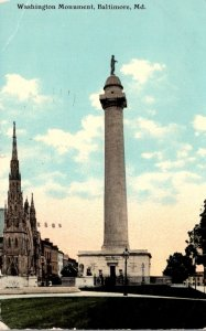 Maryland Baltimore The Washington Monument 1911