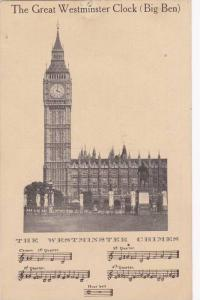 The Great Westminster Clock (Big Ben), The Westminster Chimes, London, Englan...
