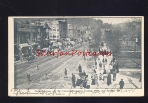HOT SPRINGS ARKANSAS DOWNTOWN CENTRAL AVENUE STREET SCENE OLD POSTCARD20197