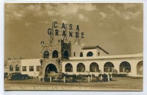 Casa Grande Hotel C Valles SLP Mexico RPPC Real Photo postcard