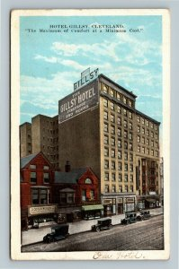 Cleveland OH, Gillsy Hotel Dining, Scotch Woolen Co, Vintage Ohio c1922 Postcard
