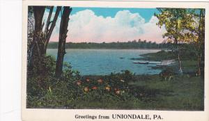 Panorama, Greeting From Uniondale, Pennsylvania, 1910-1920s