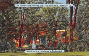 Civil War Post Card Old Vintage Antique Postcard Central Park, Civil War Monu...