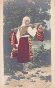 Serbia Local Woman In Typical Costume