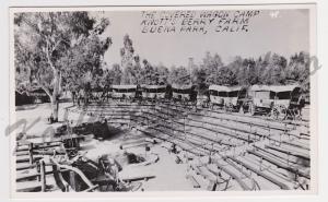 RPPC Knott's Berry Farm Buena Park California Covered Wagon CampPostcard A30