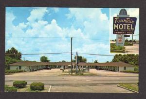 NC Fountain Motel WILMINGTON NORTH CAROLINA Postcard