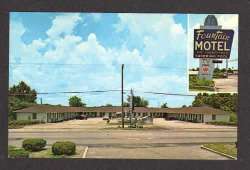NC Fountain Motel WILMINGTON NORTH CAROLINA Postcard