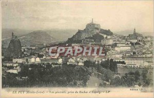 Old Post Card Le Puy (Haute Loire) General view taken of the Rock of Espaly