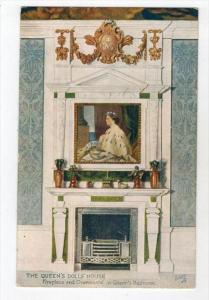 275  Tuck The QUEEN´s DOLL´s HOUSE Fireplace & Overmantel Queen´s Bedroom