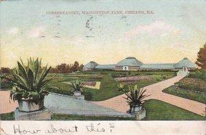 Illinois Chicago Conservatory Washington Park 1907