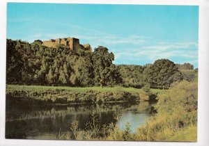 Goodrich Castle, Hereford and Worcester, View on castle from the River Wye