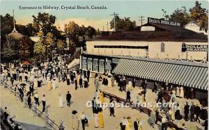 Entrance to Midway Crystal Beach, Canada Unused