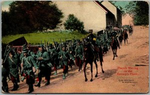 Vintage WWI Military Postcard French Moving on the Enemy's Flank Dated 1917