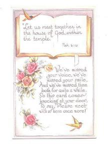 Bible Quote, Let Us Meet Together, Missed at Church, Roses,