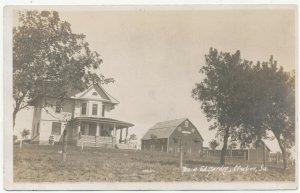 c1915 RPPC Clutier Iowa Farm Ed Harden Postcard Real Photo