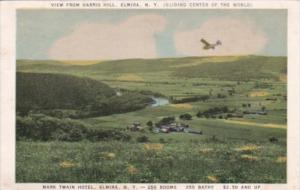 New York Elmira View From Harris Hill Gliding Center Of The World 1944
