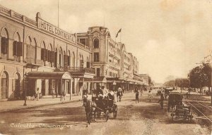 Chowringhee CALCUTTA Hotel Continental INDIA c1910s Tuck Vintage Postcard