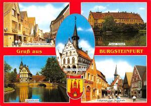 Gruss aus Burgsteinfurt, Fuerstl. Schloss Fussgangerzone Steinstrasse Shops