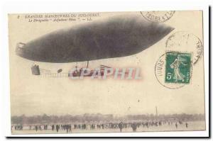 South West Maneuvers Old Postcard Airship Zeppelin Warrant Reau