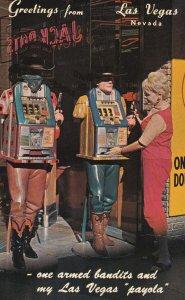 LAS VEGAS, Nevada, 1950-1960's; One Armed Bandits, Fremont Street
