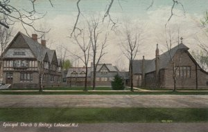 LAKEWOOD , New Jersey, 1900-10s ; Episcopal Church & Rectory