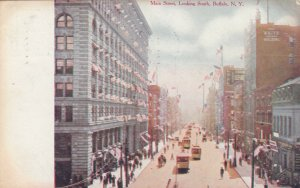 BUFFALO , New York , PU-1908 ; Main St., looking South, Trolleys