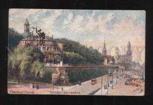 058805 GERMANY Dresden Beledere By Flower old TUCK PC