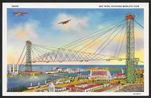 Chicago Worlds Fair 1933-1934 Sky Ride Chicago Illinois Unused c1933
