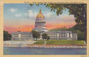West Virginia  Charleston West Virginia State Capitol And Kanawha River Artvu...