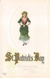 With Fond Recollections Saint Patrick's Day Unused